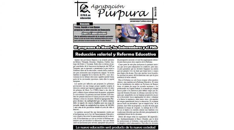 Boletín de la Púrpura – Marzo de 2019